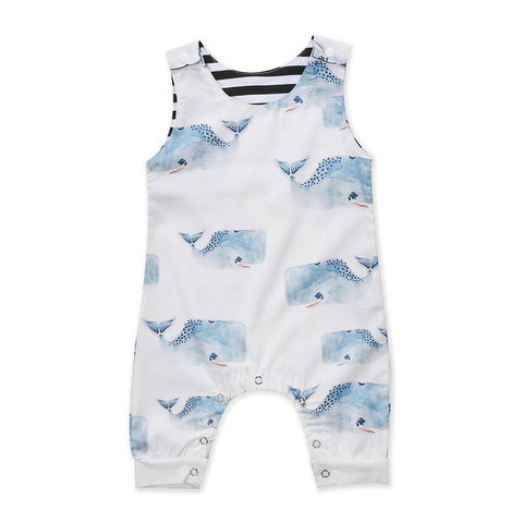 Kids Baby Boy Girl Jumpsuit O Blue Shark