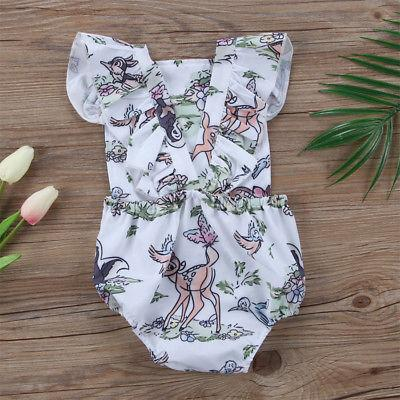 Baby Boy Girl Romper Cartoon Deer