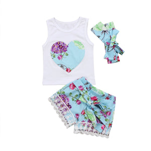 Girl Baby Girl Set Lovely Heart