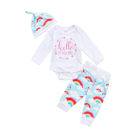Baby Girls Boy Set Rainbow