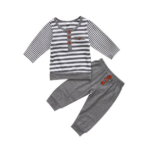 Kids Baby Boy Girl Set Gray And White