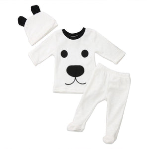 Kids Baby Girl Boy Set White Dog