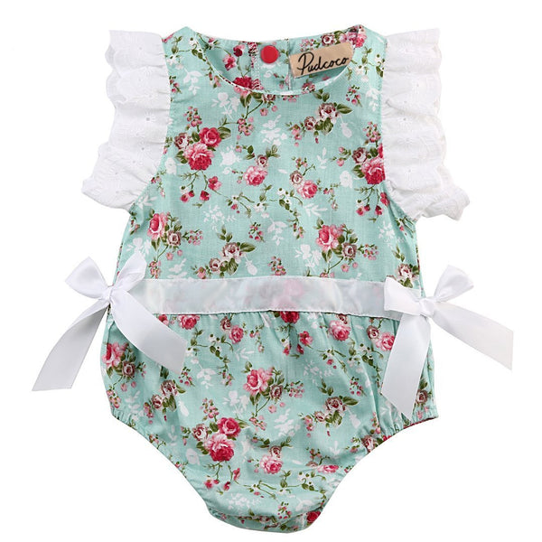 Baby Girl Romper O Pretty Ribbons