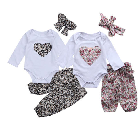 Baby Girl Set Sweet Hearts