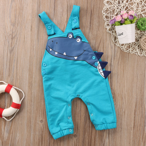 Kids Baby Boy Girl Overall Dinosaur