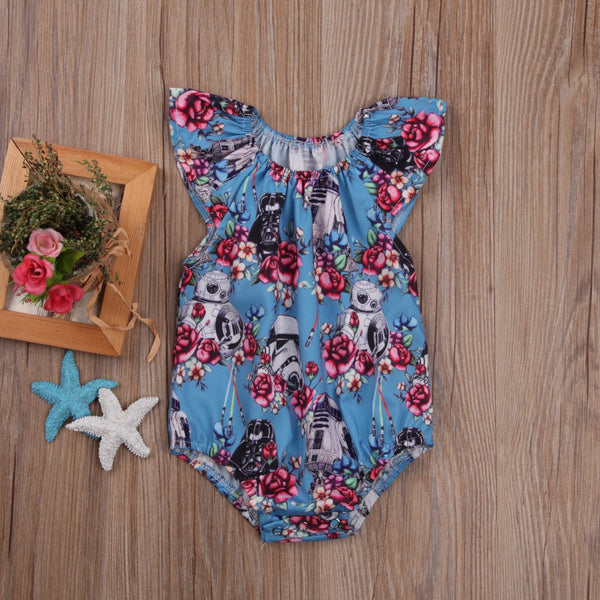 Baby Girl Romper Colorful Star