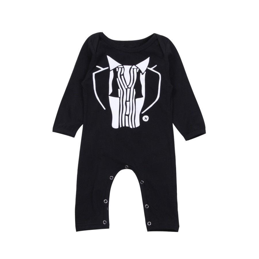 Kids Baby Boys Romper Black Anime Mr.Boss