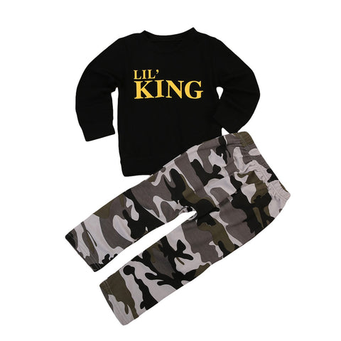 Boy Baby Boy Set Lil King