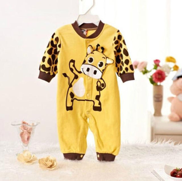 Baby Boy Girl Jumpsuit Happy Cow