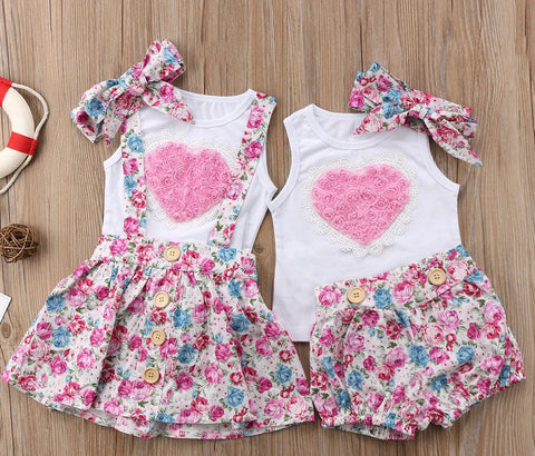Girl Baby Girl Big Sister Little Sister Pinky Matching Set