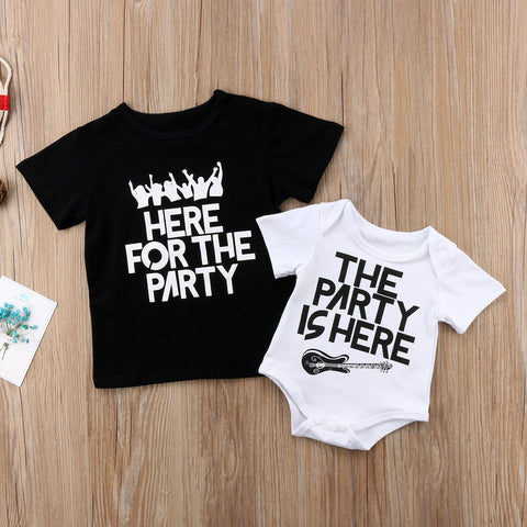 Kids Baby Boy Girl T Shirt Romper Party