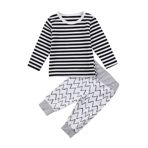 Kids Baby Boys Girls Set Multilines