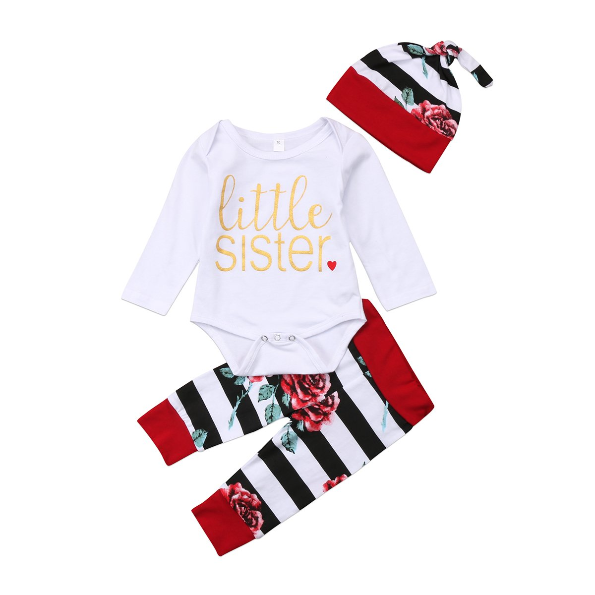 Kids Baby Girl Romper Little Sister Flora