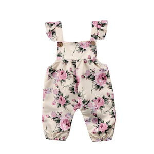Girl Baby Girl Jumpsuit Pink Roses