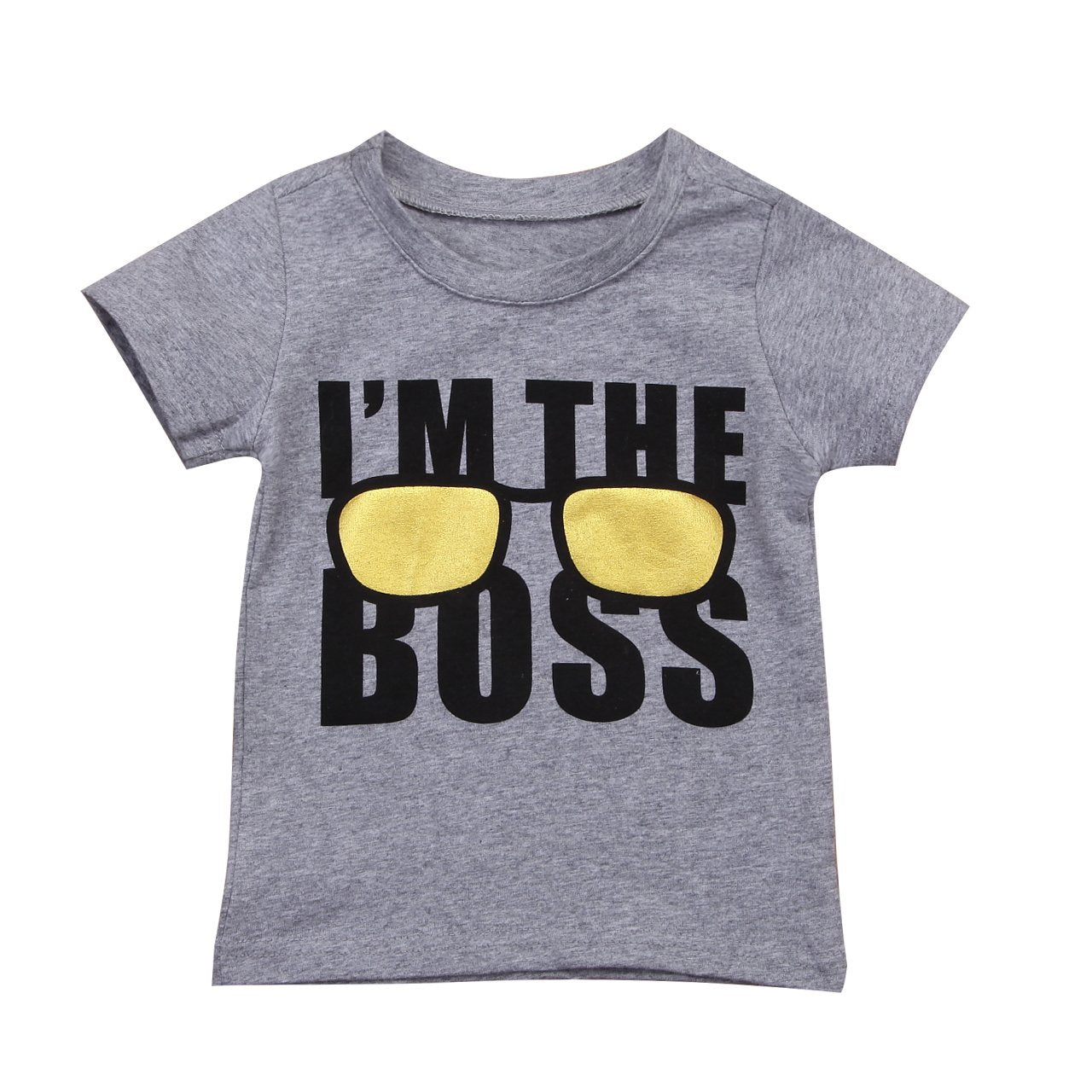 Kids Baby Boy Girl T-shirt I Am The Boss