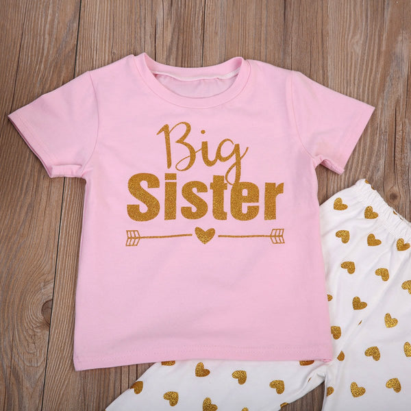 Girl Baby Girl Set Lovable Sister