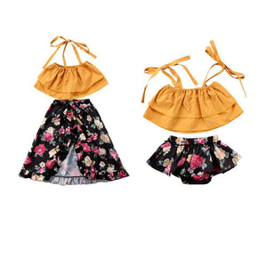 Girl Baby Girl Set Yellow Paradise
