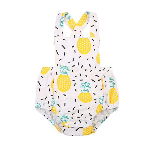Baby Girl Fresh Pineapple Jumpsuit