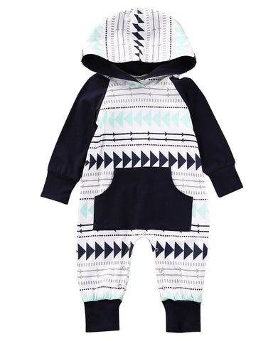 Kids Baby Boy Girl Romper Hooded WOW