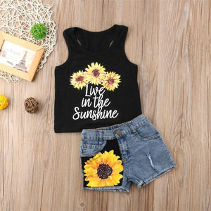Girl Baby Girl Love Sunflower Set