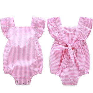 Baby Girl Pink Lolly Pop Bow Jumpsuit
