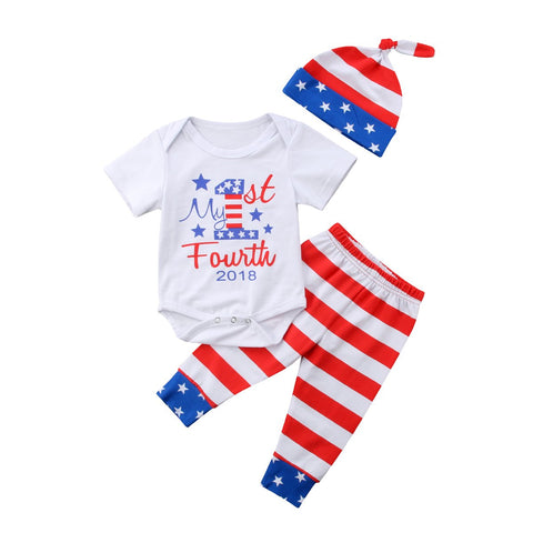 Kids Baby Boy Girl Jumpsuit Set 4-th July