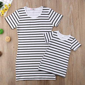 Girl Baby Girl Dress Family Matching BW
