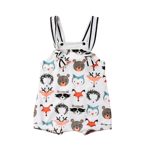 Kids Baby Boy Girl Cute Zoo Overall