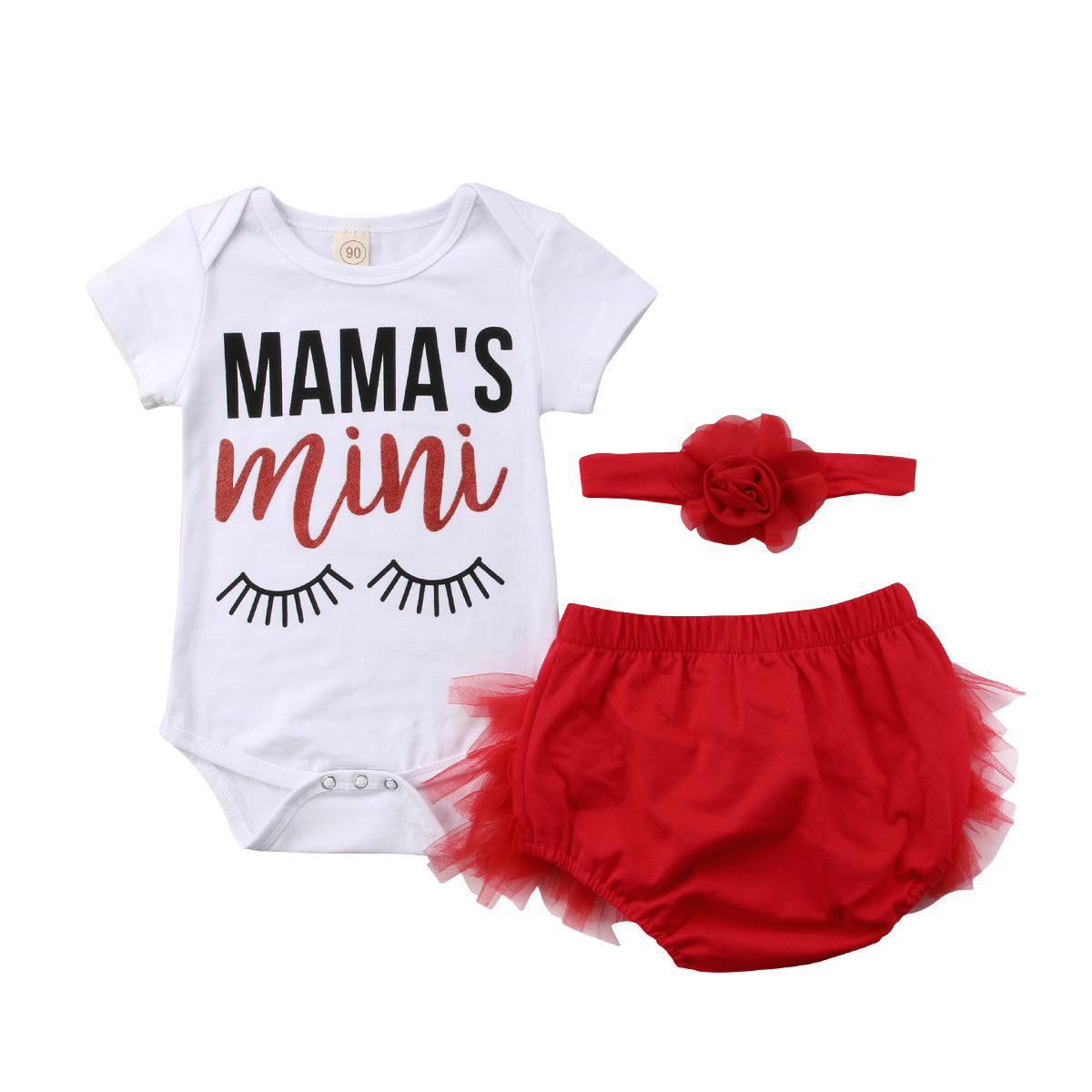 Girl Baby Girl Mama's Mini Jumpsuit Set