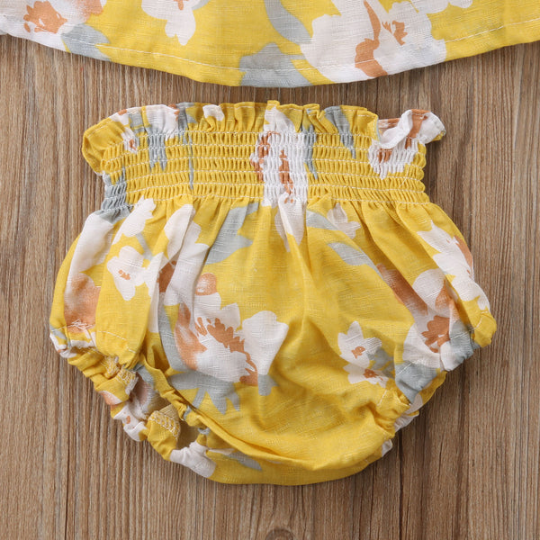 Girl Baby Girl Yellow Floral Set Anka