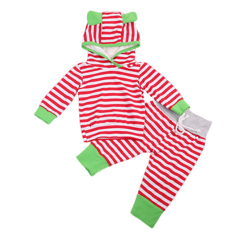 Kids Baby Girl Boy GR Hooded Set Ears