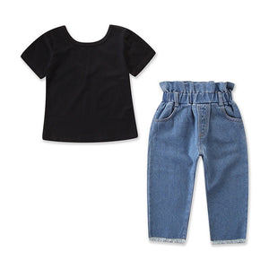 Girl Baby Girl Set Top And Denim