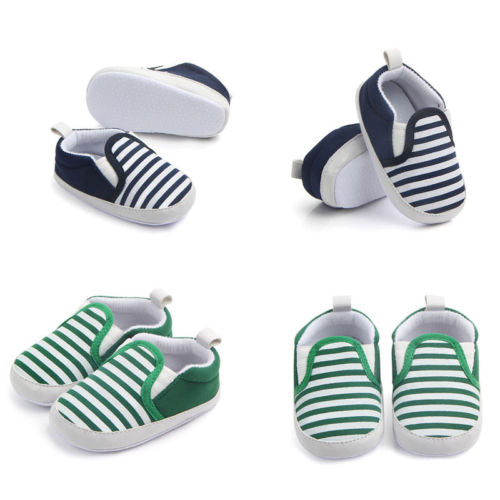 Baby Boy Girl Fashion Striped Shoes Soft