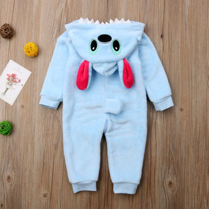 Baby Boy Hooded 3D Puppy Romper