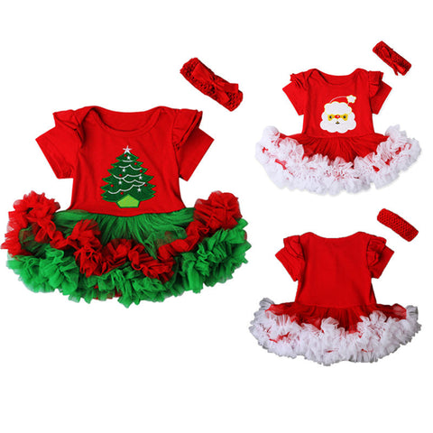 Baby Girl Newborn Dress Set Christmas Costume