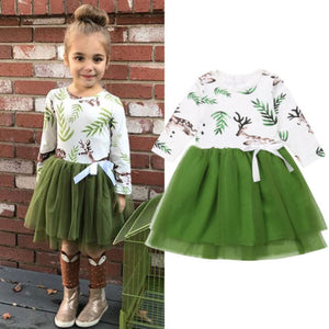 Girl Baby Girl Deer Tutu Party Dress
