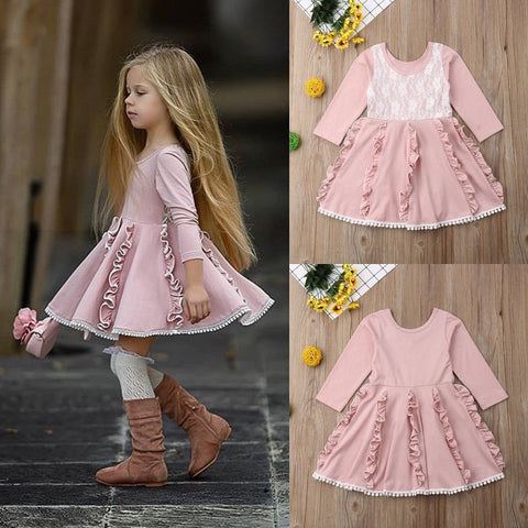 Lovely Lace Princess Pinky Dress