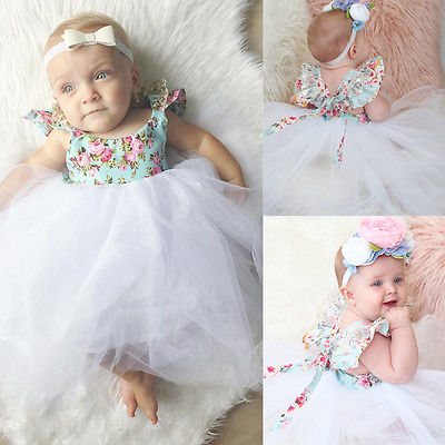 Girl Baby Girl Floral Lace Ball Gown