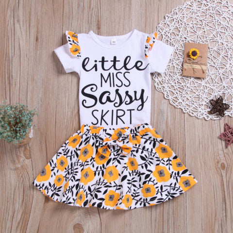 Girl Baby Girl Yellow Set Miss Sassy