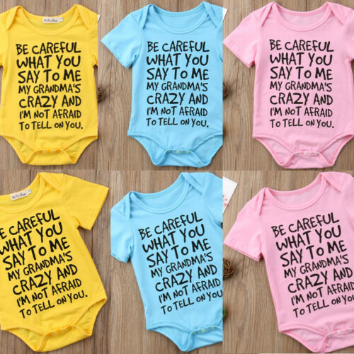 Baby Boy Girl My New Funny Romper YPB