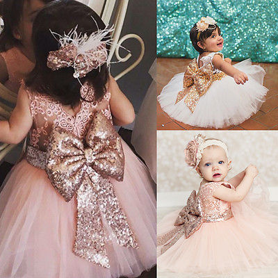 Lovely Bowknot Decor Lace Princess Party Dress