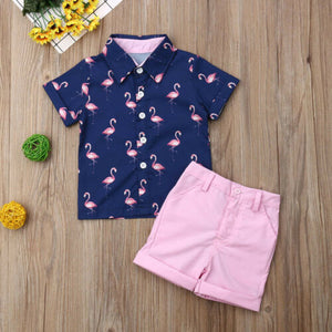 Chic Flamingo Beach Set