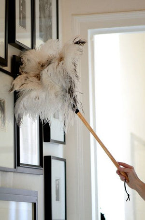 Redecker White Ostrich Feather Duster 50CM