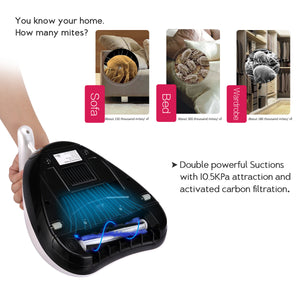 Euleven Hot Wind Anti-Dust Mites Handheld UV Vacuum Cleaner