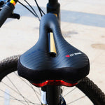 Waterproof Bike Saddle with Tail Light