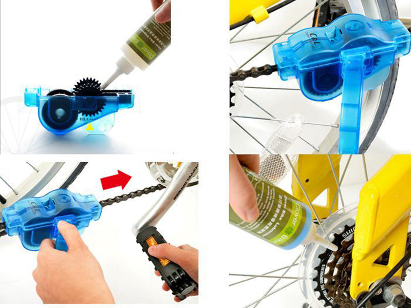 Rotating Bike Chain Cleaner