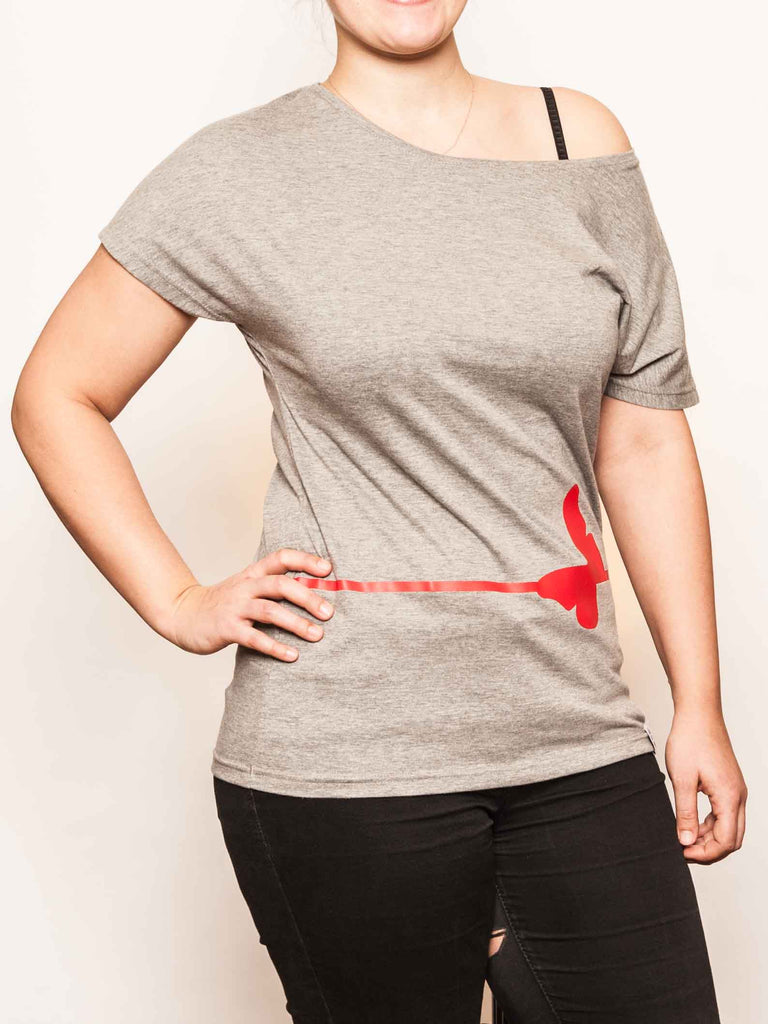 Women Shirt Bellyfly grey