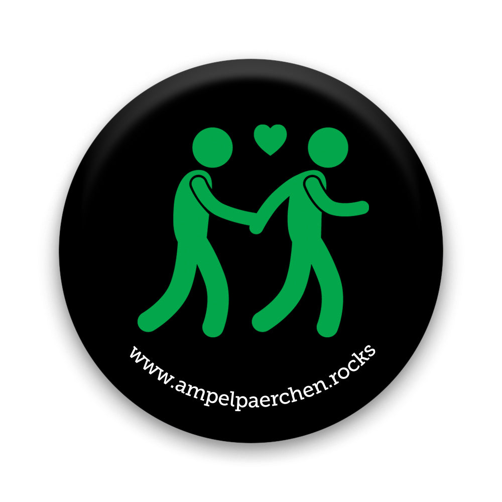 Needle Button - Lets go together on green! Man♥Man