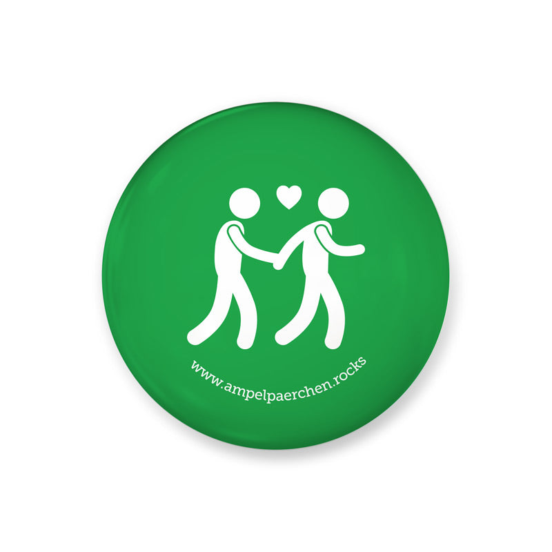 Needle Button- Let's go together on green! Man ♥ Man