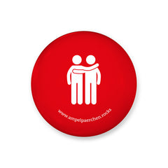 Needle button - Let's stop together on red! Man♥ Man